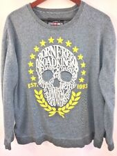 Ecko Unltd Mens Skull Graphic Sweatshirt Blue Size XXL 2XL