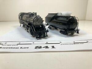 Lot841 PSC HO Scale Brass B&O Q4b 2-8-2 Locomotive & Tender Rd 2 Rail