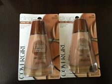 2-COVERGIRL LIQUID FOUNDATIONS 140 NATURAL BEIGE BRAND NEW