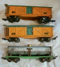 American Flyer Prewar 9 1/2 Freight Cars Link and Pin Couplers