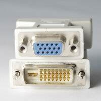 DVI-D 24+1 Male to VGA HD 15 Female Adapter for HDTV, Gaming,Projector, DVD, PC