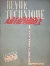 Revue technique RENAULT PRIMA NOVA VIVA RTA 65 1951 BATTERIES + FREINS