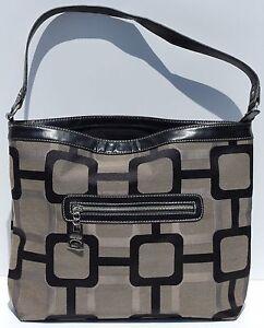 Nine West Womens Tote/Shopper Style Black & Brown Handbag Large 15x11'