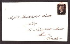 Gb 1 on Cover from Southampton to London Tied w/ Red Cancel Vf Dated 10/30/40