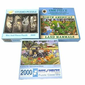 Lot 3 Bits And Pieces 1500 2000 3000 Pieces Puzzles
