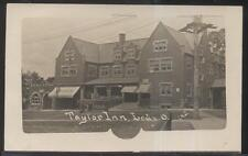 RP Postcard LODI OH  Early 1900's Taylor Tourist Inn & Drug Store #1 view 1910's