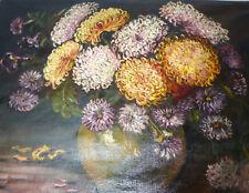 XXL Großes Bild Ölbild Blumenbild signiert datiert B-6865