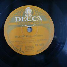 78 rpm ALOIS MELICHAR - BERLIN STATE OPERA william tell overture