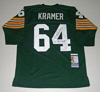 PACKERS Jerry Kramer signed jersey w/ SB I & II JSA COA AUTO Autograph Green Bay