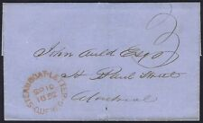 Canada 1852 Steamboat Letter Quebec to Montreal