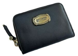 Exclusive Samsonite BLACK LABEL RESORT Collection Coin Purse Leather Choc Brown