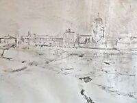 Jörg MADLENER (1939) - Lithographie 1983: ANSICHT VON VENEDIG / Venezia Italia