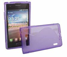 Rubber Case Wave für LG P700 Optimus L7 in lila Silikon Skin Hülle Bag purple