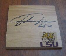 JOHNNY JONES HAND SIGNED LSU TIGERS LOGO FLOOR TILE W/COA