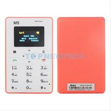 "Thin Bar Mini Pocket Mobile Cell Phone Card AIEK M5 128M GSM 1.0"" Low Radiation"