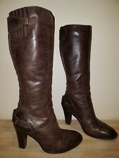 DESIGNER BELSTAFF GRACE BROWN KNEE HIGH REAL LEATHER ITALIAN MADE BOOTS SIZE 6