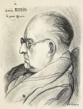 Georges JOUBIN (1888-1983) Portrait de Louis Robin,le grand africain Montmartre