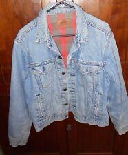 Wonderful 1980 Vintage Levi Denim Jacket With Flannel Lining Size 44
