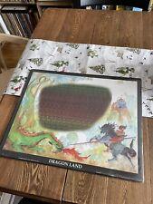 Vintage 3D Stereogram Dragon Land Dragon Magic Eye