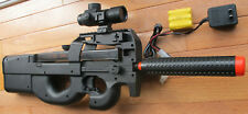 P90 Style Electric Airsoft Gun w/Red Dot Scope, BB Target, Shoot up to 240 FPS