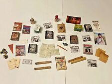 MIXED LOT OF HARRY POTTER STYLE  ACCESSORIES FOR A 1/12 SCALE DOLLS HOUSE