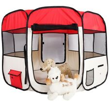 """36"""" Portable Foldable 600D Oxford Cloth Mesh Pet Playpen Fence with 8 Panels Usa"""