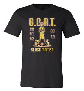 Kobe Bryant GOAT black mamba can't beat LA shirt MAMBA DAY x GOA 6 Sizes S-5XL!!