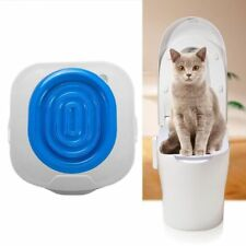 Cat Toilet Training Kit Litter Box Tray Puppy Pet Mat WC Trainer Cleaning Itself