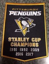 Pittsburgh Penguins Stanley Cup Champions Banner Patch Dynasty 5X Champs 5 x 7