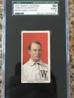 1909-11 T206 Kid Elberfeld Washington Portrait SGC 4 VG-EX RARE!