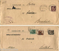 PIEGO DA BOLLATE A BENEVENTO + RISPEDIZIONE, SET 1946, 4 FRANC. DEMOCRATICA    m