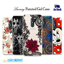 Flexible Soft TPU Shockproof Painted Gel Case Cover for Telstra Alcatel 1C & 1X