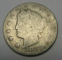 1887 Liberty V Nickel in Low Grade  A Great Filler Coin DUTCH AUCTION