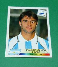 N°512 LOPEZ ARGENTINE ARGENTINA PANINI FOOTBALL FRANCE 98 1998 COUPE MONDE WM