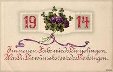 1914 IM NEUEN JAHR WIRD DIR GELINGEN NEW YEAR SUCCESS EMBOSSED
