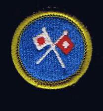 Signaling Green Border Plastic Back BSA Merit Badge Boy Scout 200551