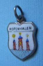 Vintage Copenhagen Denmark shield silver charm