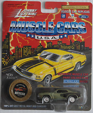 Johnny Lightning -'71/1971 Plymouth HEMI Cuda grünmet. Nuovo/Scatola Originale