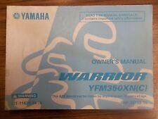 YAMAHA WARRIOR YFM350X YFM350 YFM 350 OEM ORIGINAL OWNERS MANUAL 5NF-28199-10