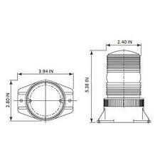 BS1W AMBER 9-80V AC/DC IP68 Strobe Xenon Emergency Warning Light Beacon