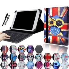 "For Various 7"" 8"" 10"" Tablet - Leather Stand Cover Case + Bluetooth Keyboard"