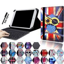 """Para varios 7"""" 8"""" 10"""" Tablet-Estuche con Funda y Base de Cuero + Teclado Bluetooth"""