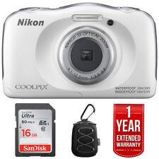 Nikon COOLPIX W100 Digital Camera + Refurbished 16GB Extended Warranty Pack