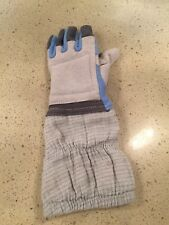 Fencing Glove. Left Hand. Blue Gauntlet.
