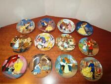 Walt Disney's Beauty & the Beast Knowles Collector Plates Complete Set of 12