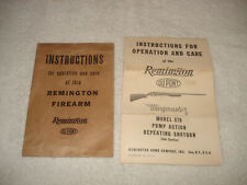 Vintage 1949 Original Remington 870 Wingmaster Owners Instructions Manual Rare