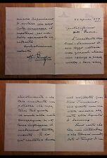 Lettera manoscritta e firmata da Ruggero Ruggeri a Remigio Paone. Torino, 1939