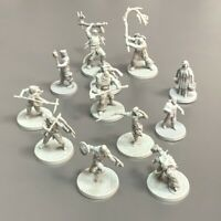 5PCS Grey Warriors Dungeons & Dragons Board Game Miniatures Figure Toys Random