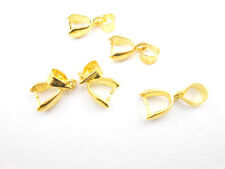 20PCS Gold Findings Bail Connector Bale Pinch Clasp Gold Bail Pendant