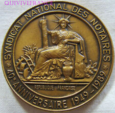 MED7451 - MEDAILLE SYNDICAT INTERNATIONAL DES NOTAIRES 1949-1989